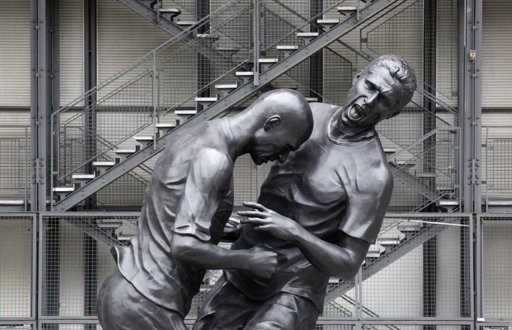 Zidane statue headbutting Materazzi