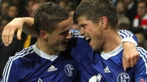 Dutch courage: Holland duo Huntelaar and Afellay find the net as Schalke take the game to Arsenal