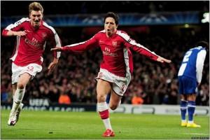 Flying high: Nasri and Bendtner book Barca date