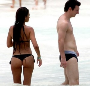 Messi and girlfriend