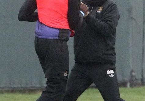 Mancini Balotelli bust up