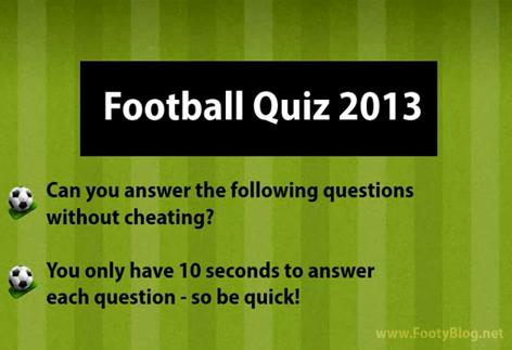 Free football quiz