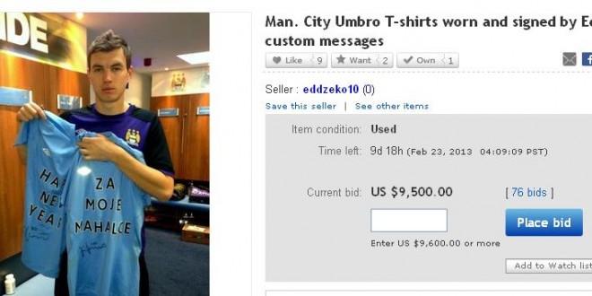 Dzeko charity ebay