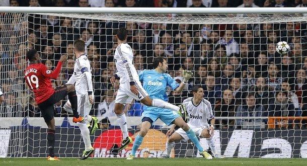 Wellbeck header against Real Madridd