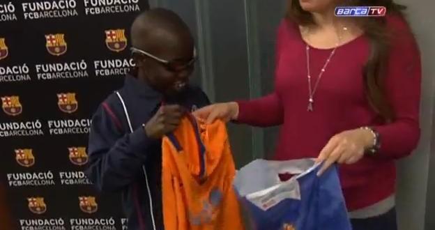 Blind Barcelona fan