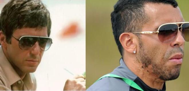 Tevez and Tony Montana lookalike