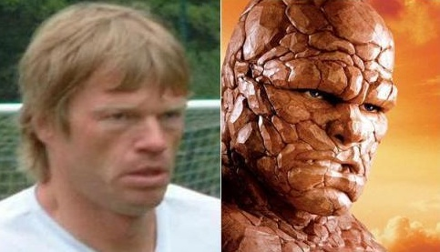 Oliver Kahn the Thing lookalike