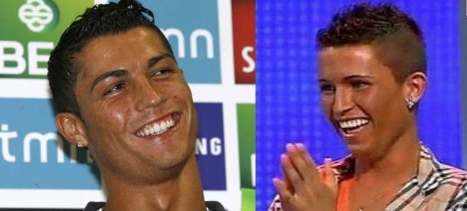 Ronaldo Jeremy Kyle Lesbian lookalike