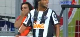 ronaldinho nearly scores