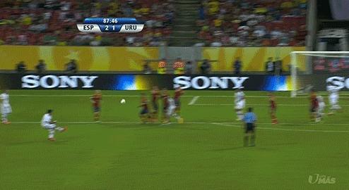 Luis Suarez goal vs Spain