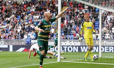 Andrew Johnson celebrates his goal vs. Bolton.