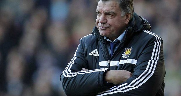 Big Sam is left helpless as injuries continue to derail the Hammers' season.  Photo: Getty Images www.telegraph.co.uk