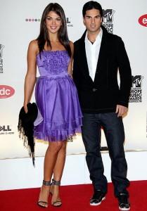 Girlfriend Lorena Bernal with Mikel Arteta