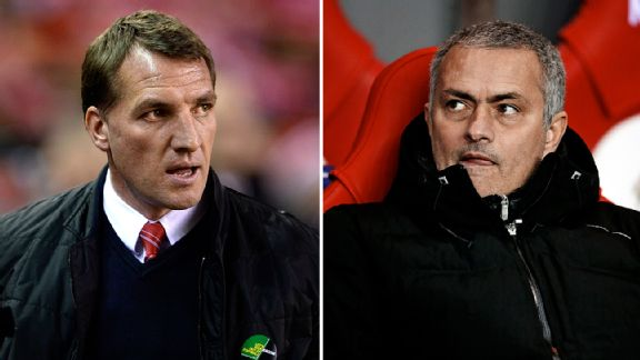 Rodgers and Mourinho clash at Anfield this Sunday