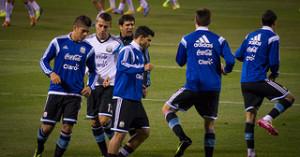 Rojo and Aguero training