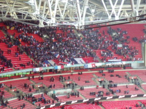 A large area of French fans