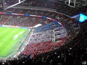 The French flag during La Marseillaise