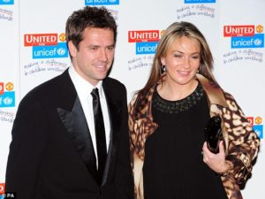 Michael Owen and girlfriend Louise Bonsall