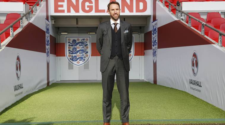 Football Soccer Britain - England - Gareth Southgate Press Conference - Wembley Stadium - 1/12/16 England Manager Gareth Southgate poses after the press conference Action Images via Reuters