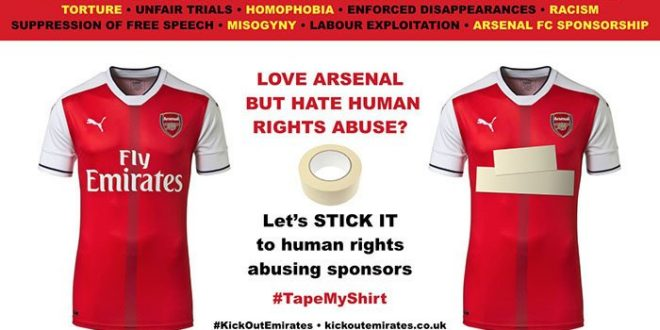 Emirates campaign by Arsenal fans