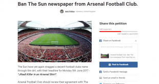 Petition aimed at The Sun