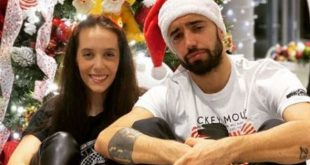 Bruno Fernandes with his lovely Ana Pinho.