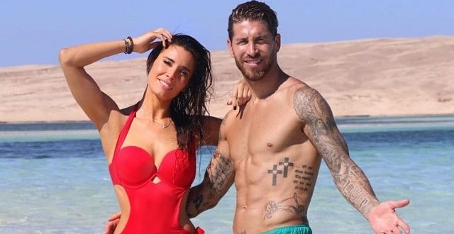 Sergio Ramos' wife in red-swimsuit showing fabulous figure